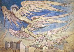Maria Pawlikowska-Jasnorzewska -Zachód słońca, Ikary nad miastem, 1920