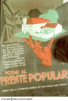 Frente Popular, Spanish War, Campaign Posters, Party Poster, Find Picture, History Museum, Natural History, Barcelona, Postcards
