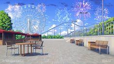 Amusement Park by Badriel on DeviantArt Episode Interactive Backgrounds, Episode Backgrounds, Anime Backgrounds Wallpapers, Anime Scenery Wallpaper, Cute Wallpapers, Scenery Background, Animation Background, Casa Anime, Anime Places