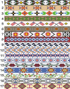 Free Native American Beading Patterns | Beadwork patterns available for custom made beaded tack from The Brown ...