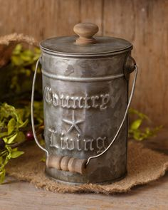 Your Hearts Delight Country Living Canisters with Lids, 5-1/2-Inch by 7-3/4-Inch