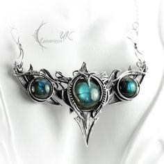 SATAHRYANN - silver and labradorite by LUNARIEEN.deviantart.com on @deviantART