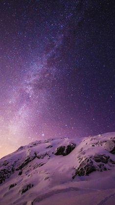 Starry Norway #iPhone #5s #Wallpaper