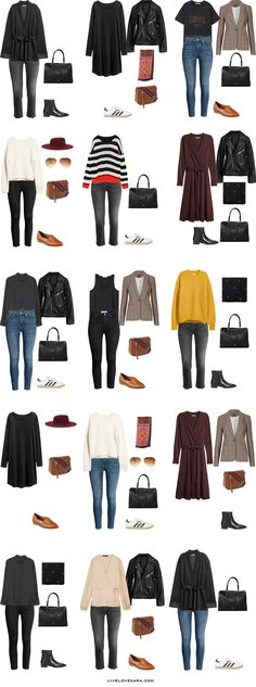 What to Pack for 8 Days in Rome, Venice, and Florence Packing Light List 15 Outfit Options #packinglist #packinglight #travellight #travel #livelovesara