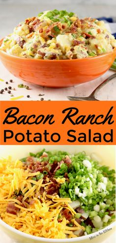 Bacon Ranch Potato Salad is a great addition to any meal and a must-have for every summer cookout! Delicious red potatoes, crispy bacon, cheddar cheese, green onions and the classic ranch is a combination that can't be topped! Add this easy potato salad to your menu! #ad @hvranch #potatosalad