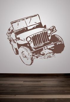 Wall+Decal+Jeep+Car+SUV+Transportation+Racing+by+WallStarGraphics,+$50.00
