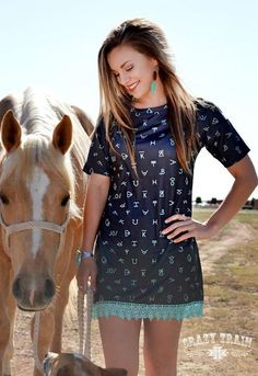 Crazy Train Brand Your Cattle Tunic/dress