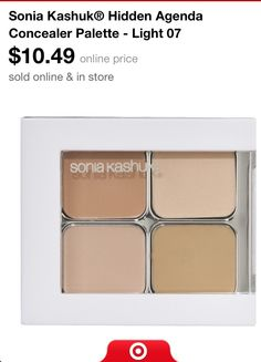 Sonia Kashuk: concealer palette- this is supposed to be a dupe for MAC Studiofix Concealer