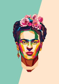 Geometric people frida kahlo i 2019 art, frida kahlo och kahlo paintings. Fridah Kahlo, Frida Kahlo Portraits, Frida Kahlo Artwork, Kahlo Paintings, Frida Art, Atelier D Art, Pop Art Portraits, Artist Art, Art Inspo