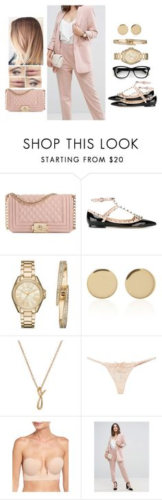 """""""Pastel Office"""" by teodoramaria98 ❤ liked on Polyvore featuring Valentino, Michael Kors, Magdalena Frackowiak, Chanel, Anne Klein, L'Agent By Agent Provocateur, Fashion Forms and ASOS"""