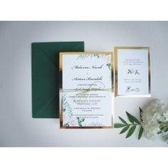 Zaproszenia ślubne Grace Place Cards, Place Card Holders, Wedding, Valentines Day Weddings, Weddings, Marriage, Chartreuse Wedding