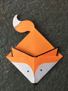 Origami For Kids Craft Projects Corner Bookmarks New Ideas Origami Design, Diy Origami, Origami Fox, Origami Folding, Useful Origami, Paper Crafts Origami, Paper Crafting, Origami Hearts, Dollar Origami