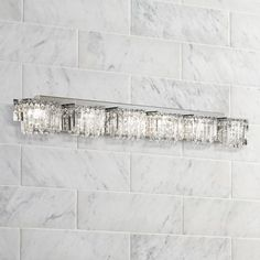 Possini Euro Hanging Crystal Six Light Halogen Bath Light