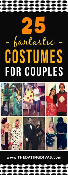 Love these Halloween couples costume ideas! Lots of DIY too! www.TheDatingDivas.com