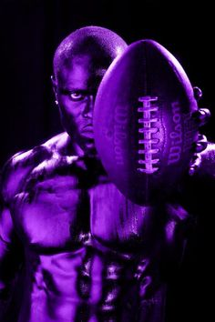 ❇My 3 favorite things the color Purple a Built Man &Football❇