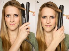 How To: Soft Flat Iron Curls