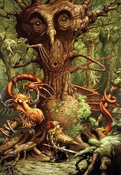 Jabberwocky Alice In Wonderland Poster 1995 Rodney Matthews Lewis Carroll Magical Creatures, Fantasy Creatures, Fantasy World, Fantasy Art, Fantasy Life, Fantasy Paintings, Illustrations, Illustration Art, 70s Sci Fi Art