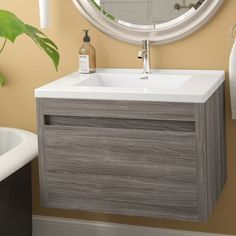 "Rosas Modern 30"" Single Bathroom Vanity Set"