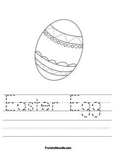 Easter Egg Worksheet from TwistyNoodle.com