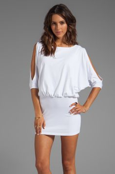 "Susana Monaco Light Supplex Annalise 18"" Dress in Sugar from REVOLVEclothing"