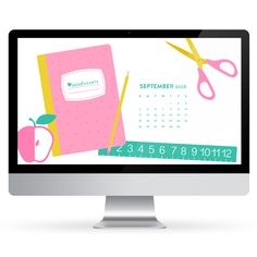 Get ready for back to school with this free September 2016 calendar wallpaper…