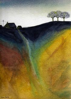 Evening Light., Watercolor painting by JULIE MORRIS | Artfinder