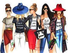 Ilustración de edición limitada moda arte por RongrongIllustration