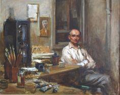 Portrait of Emil Goldfus by Burton Silverman, 1958.