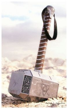 Hammer of Thor by nnm06956. Thors Hammer (Mjolnir).- Fully textured with Vray materials  Includes ground mesh and HDRI lightprobe for rendering   /
