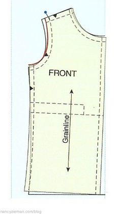 Pattern Fitting with Confidence by Nancy Zieman. How to adjust a pattern to fit narrow shoulders.