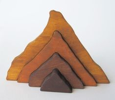 Wooden Moutain Stacker  Waldorf toy nature by Imaginationkids, $14.00