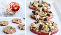 10 pomysłów na pyszne i zdrowe przekąski dla dzieci - DomPelenPomyslow.pl Apple Cookies, Recipe Please, Meals For One, Food Videos, Nutella, Oatmeal, Paleo, Yummy Food, Snacks
