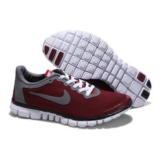 Lovers Shoes Nike Free 3 0 Couple Shoes Red/Grey/White found on Polyvore featuring women's fashion and shoes