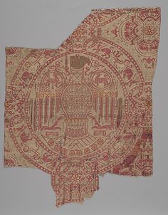 Fragment Date: first half 12th century Geography: Spain Culture: Islamic Medium: Silk, metal wrapped thread; lampas Accession Number: 58.85.2