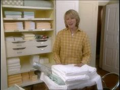 Martha Stewart gives practical tips and tricks on organizing your linen closet to make it useful, orderly, and attractive. Linen Closet Organization, Closet Storage, Organisation Ideas, Organizing Ideas, Kitchen Organization, Kid Closet, Closet Ideas, Simple Closet, Closet Layout