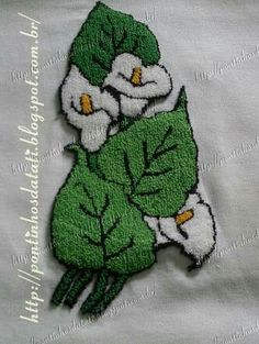 agulha mágica Simple Embroidery, Crewel Embroidery, Embroidery Patterns, Point Lace, Punch Art, Punch Needle, Rug Hooking, Craft Patterns, Quilling
