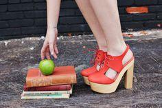 Orange+Suela de madera= Must Have! M
