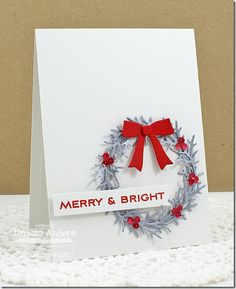 made by barbara: Merry and bright. simply beautiful!!! MFt dienamics winter wreath.