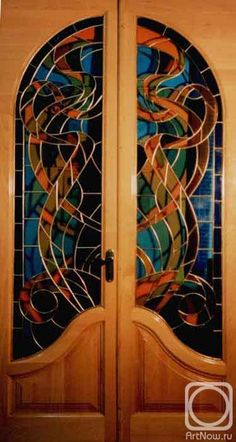 Stained Glass Doors by Sipovich Valdimir- I'll bet it's even more beautiful from the other side..