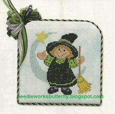 Needle-Works Butterfly: A Little Witch Cross Stitch Pattern