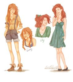 viria. The difference between Lily and Ginny. Not to mention their personalities are different!