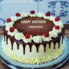 birthday cake with name - cakedayphotoframes | cakedayphotoframes Birthday Cake Write Name, Birthday Cake Writing, 15th Birthday Cakes, Birthday Wishes Cake, Unique Birthday Cakes, Birthday Cake With Flowers, Flower Birthday, Birthday Cake For Men Easy, Brithday Cake