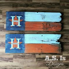 Astros Team, Houston Astros, Baseball Flag, Baseball Stuff, Crafts To Sell, Diy And Crafts, Summer Signs, Wood Flag, Reclaimed Wood Signs