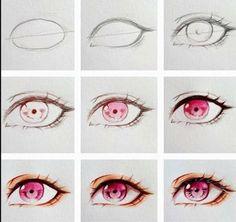 63 New Ideas Drawing Tutorial Anime Eyes Eye Drawing Tutorials, Sketches Tutorial, Drawing Techniques, Art Tutorials, Eye Tutorial, Realistic Eye Drawing, Manga Drawing, Drawing Eyes, Anatomy Drawing