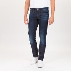 now on eboutic.ch - skinny dark denim blue jeans for men Dark Denim, Blue Denim, Blue Jeans Mens, Calvin Klein, Underwear, Skinny, Pants, Clothes, Fashion