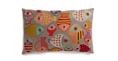 "Fashion Fish Coral-Red 16"" x 26"" Pillow"