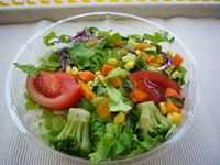 Meals. Salad.  I eat as dinner.  it has many dietary fibers and less heavy for stomack.