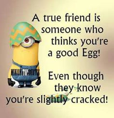 True friends cracked egg