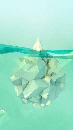 aqua #iceberg #sea #ocean abstract #art #illustation #graphic