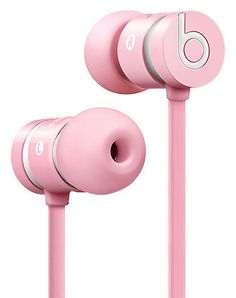 BEATS BY DRE Ear buds Removable wingtips for customizable sound Solid metal housing jack Tangle free cables Inline remote Built in phone call mic Beats By Dre, Pink Love, Pretty In Pink, Best In Ear Headphones, Running Headphones, Wireless Headphones, Beats Earbuds, Cheap Beats, Accessoires Iphone